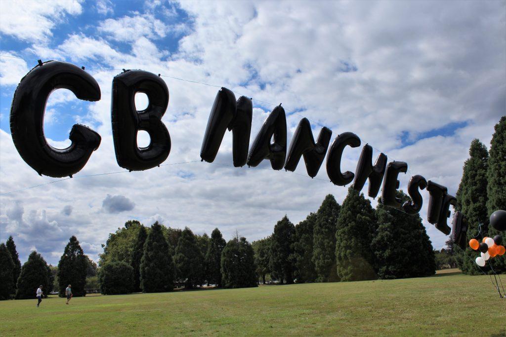 GB Manchester balloon banner